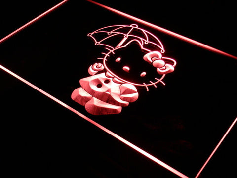 Image of Hello Kitty Umbrella LED Neon Sign - Red - SafeSpecial