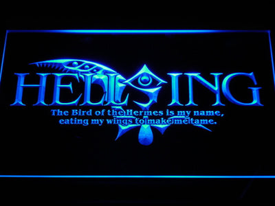 Hellsing LED Neon Sign - Blue - SafeSpecial