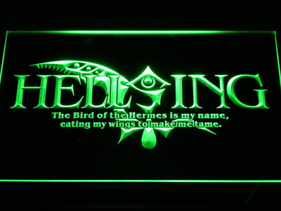 Hellsing LED Neon Sign - Green - SafeSpecial