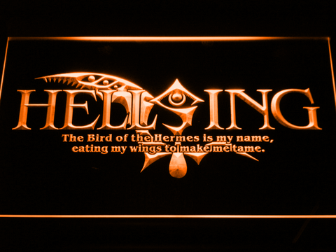 Hellsing LED Neon Sign - Orange - SafeSpecial