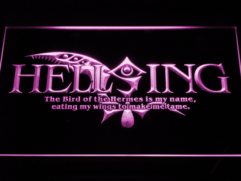 Hellsing LED Neon Sign - Purple - SafeSpecial