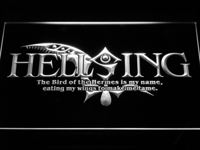 Hellsing LED Neon Sign - White - SafeSpecial