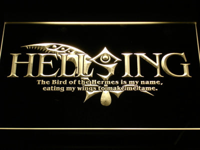 Hellsing LED Neon Sign - Yellow - SafeSpecial