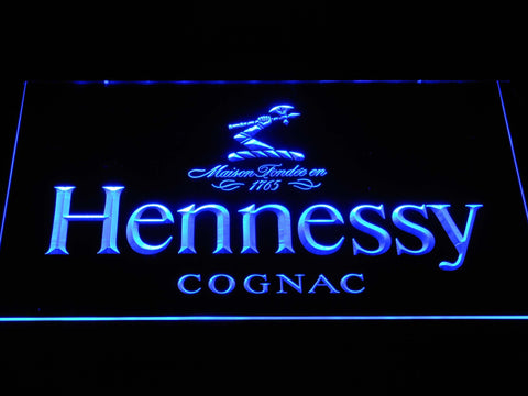 Hennessy Cognac LED Neon Sign - Blue - SafeSpecial