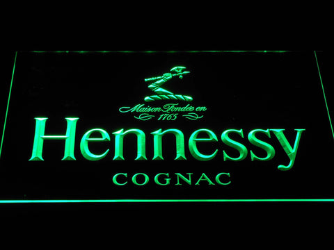 Image of Hennessy Cognac LED Neon Sign - Green - SafeSpecial