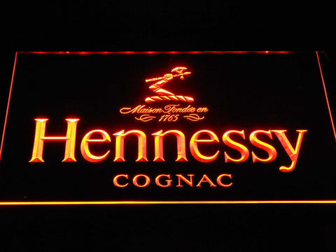 Image of Hennessy Cognac LED Neon Sign - Orange - SafeSpecial