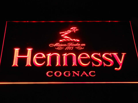 Image of Hennessy Cognac LED Neon Sign - Red - SafeSpecial