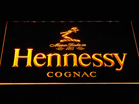 Image of Hennessy Cognac LED Neon Sign - Yellow - SafeSpecial