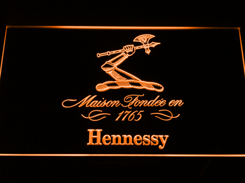 Image of Hennessy LED Neon Sign - Orange - SafeSpecial