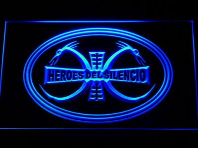 Heroes Del Silencio Dragons LED Neon Sign - Blue - SafeSpecial
