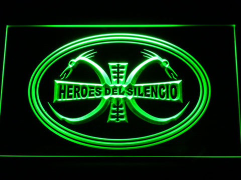 Image of Heroes Del Silencio Dragons LED Neon Sign - Green - SafeSpecial