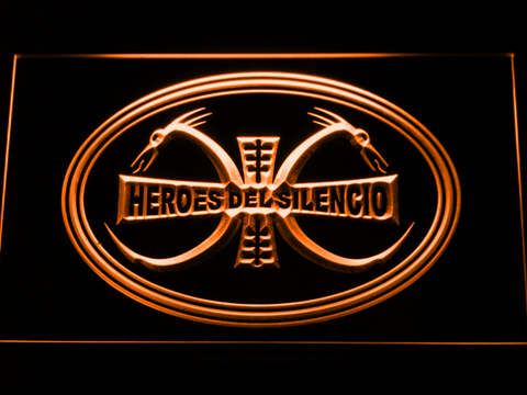 Image of Heroes Del Silencio Dragons LED Neon Sign - Orange - SafeSpecial