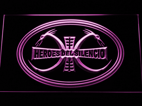 Image of Heroes Del Silencio Dragons LED Neon Sign - Purple - SafeSpecial