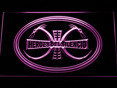 Heroes Del Silencio Dragons LED Neon Sign - Purple - SafeSpecial