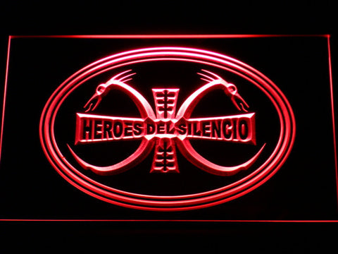 Image of Heroes Del Silencio Dragons LED Neon Sign - Red - SafeSpecial