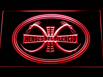 Heroes Del Silencio Dragons LED Neon Sign - Red - SafeSpecial