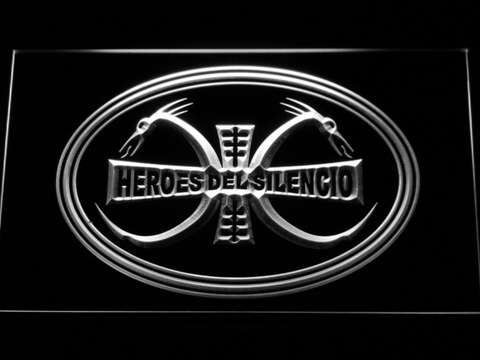 Image of Heroes Del Silencio Dragons LED Neon Sign - White - SafeSpecial