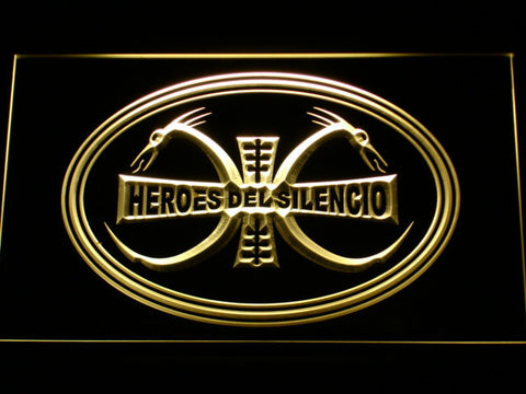 Image of Heroes Del Silencio Dragons LED Neon Sign - Yellow - SafeSpecial