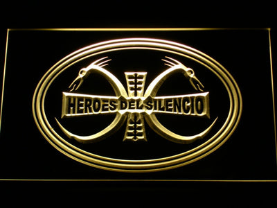 Heroes Del Silencio Dragons LED Neon Sign - Yellow - SafeSpecial