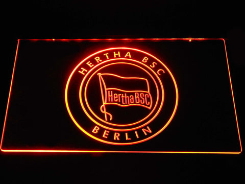 Hertha BSC LED Neon Sign - Orange - SafeSpecial