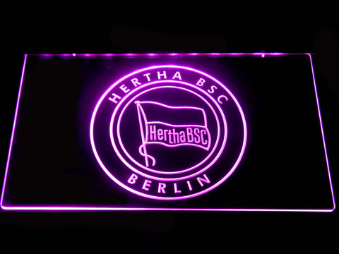 Hertha BSC LED Neon Sign - Purple - SafeSpecial