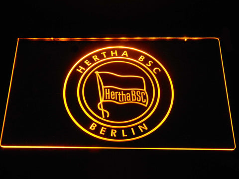 Hertha BSC LED Neon Sign - Yellow - SafeSpecial