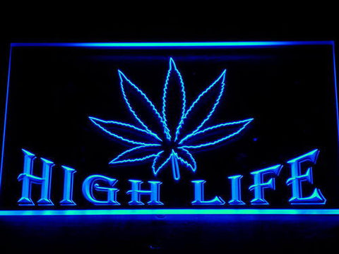 High Life LED Neon Sign - Blue - SafeSpecial