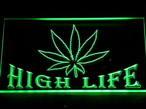 High Life LED Neon Sign - Green - SafeSpecial