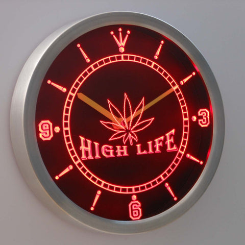 Image of High Life LED Neon Wall Clock - Red - SafeSpecial