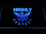 Highly Suspect LED Neon Sign - Blue - SafeSpecial