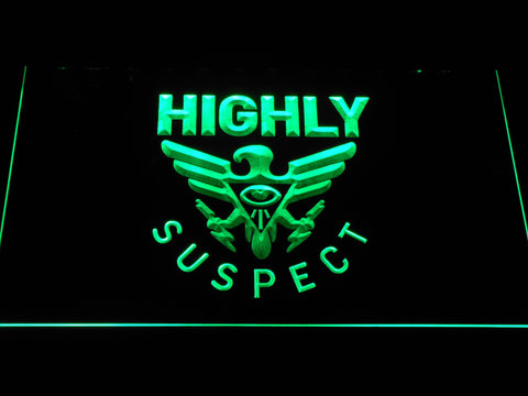 Highly Suspect LED Neon Sign - Green - SafeSpecial