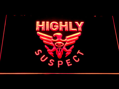 Highly Suspect LED Neon Sign - Red - SafeSpecial