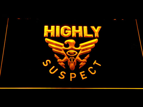 Highly Suspect LED Neon Sign - Yellow - SafeSpecial