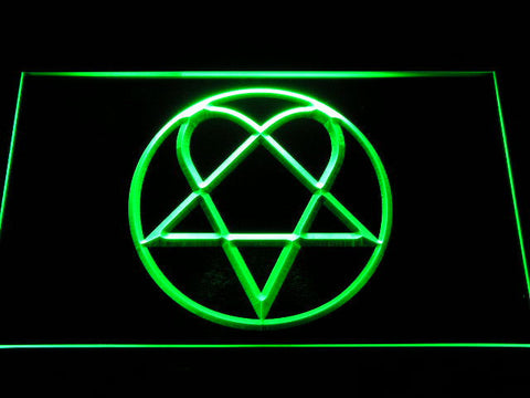 HIM Heartagram LED Neon Sign - Green - SafeSpecial