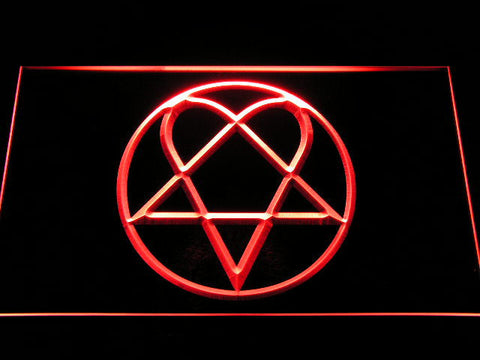 HIM Heartagram LED Neon Sign - Red - SafeSpecial