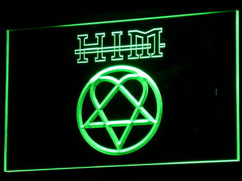 Image of HIM LED Neon Sign - Green - SafeSpecial