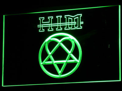 HIM LED Neon Sign - Green - SafeSpecial