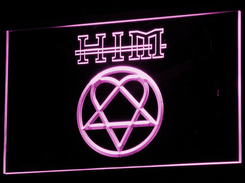 Image of HIM LED Neon Sign - Purple - SafeSpecial