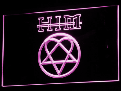 HIM LED Neon Sign - Purple - SafeSpecial
