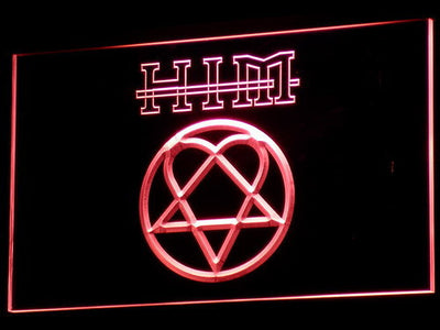 HIM LED Neon Sign - Red - SafeSpecial