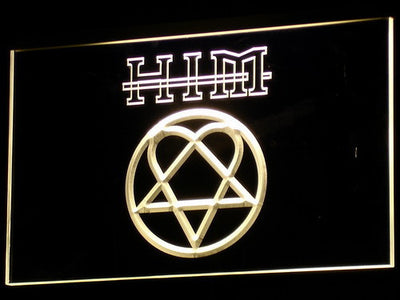 HIM LED Neon Sign - Yellow - SafeSpecial