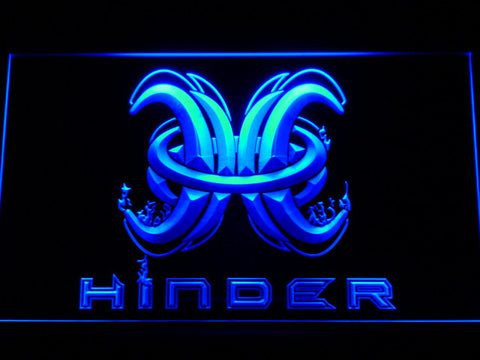 Image of Hinder LED Neon Sign - Blue - SafeSpecial