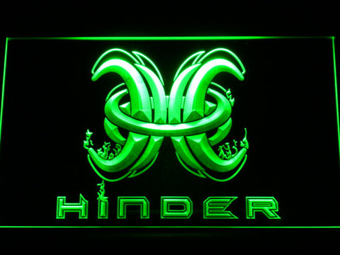 Image of Hinder LED Neon Sign - Green - SafeSpecial