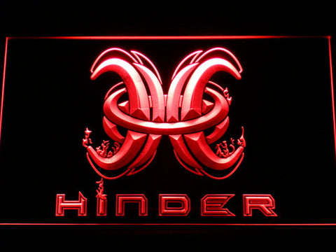 Image of Hinder LED Neon Sign - Red - SafeSpecial