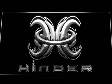Image of Hinder LED Neon Sign - White - SafeSpecial