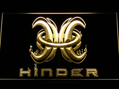 Image of Hinder LED Neon Sign - Yellow - SafeSpecial