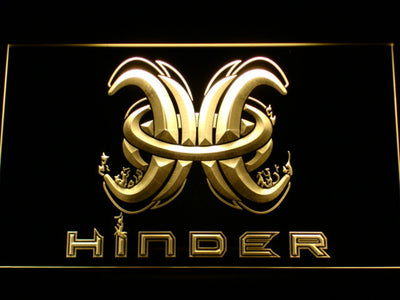 Hinder LED Neon Sign - Yellow - SafeSpecial
