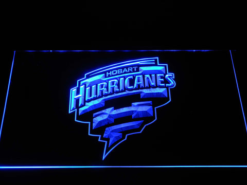 Image of Hobart Hurricanes LED Neon Sign - Blue - SafeSpecial