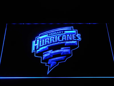 Hobart Hurricanes LED Neon Sign - Blue - SafeSpecial