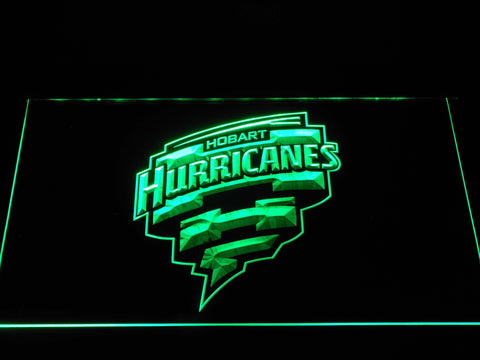 Image of Hobart Hurricanes LED Neon Sign - Green - SafeSpecial